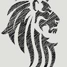 Lion Tribal Tattoo Style Distressed Design  by Denis Marsili