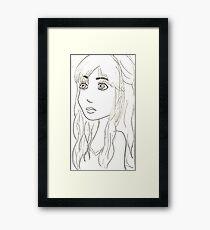 Girl Sketch Framed Print