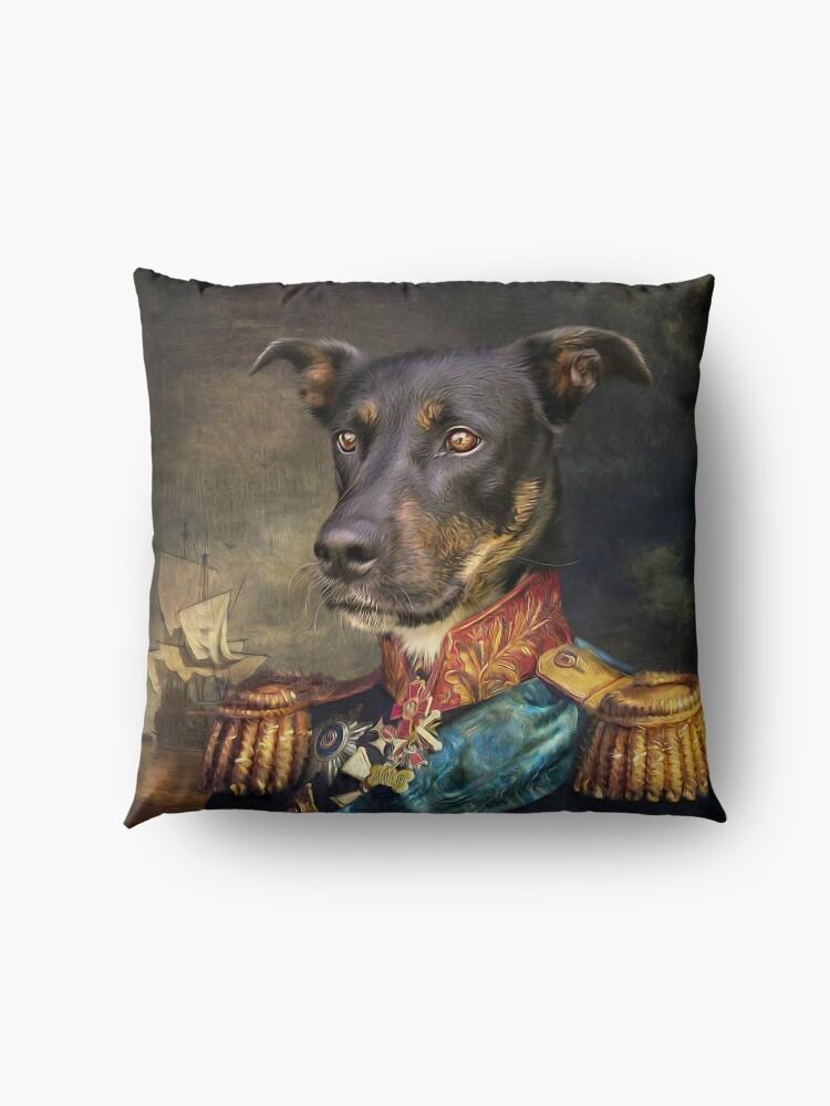 Alternate view of Dog Portrait - Arlo Floor Pillow