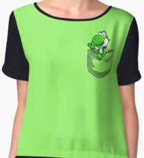 Pocket Yoshi Tshirt Chiffon Top