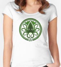 HAIL CTHULHU! - Squamous Green on White Edition Women's Fitted Scoop T-Shirt