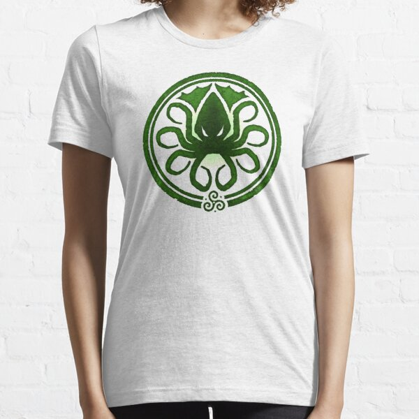 HAIL CTHULHU! - Squamous Green on White Edition Essential T-Shirt