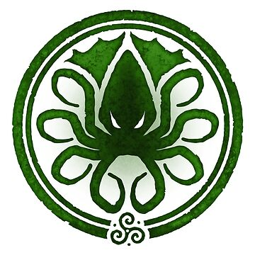HAIL CTHULHU! - Squamous Green on White Edition by Quire
