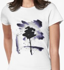 Deep Purple Ink Wash I Women's Fitted T-Shirt