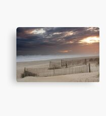Sunset through a storm over Emerald Isle, North Carolina Canvas Print