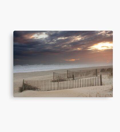 Sunset through a storm over Emerald Isle, North Carolina Canvas Print