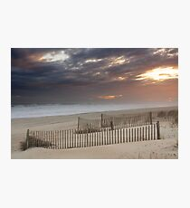 Sunset through a storm over Emerald Isle, North Carolina Photographic Print