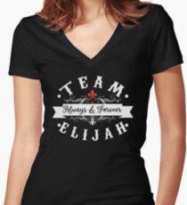 Team Elijah.  Women's Fitted V-Neck T-Shirt