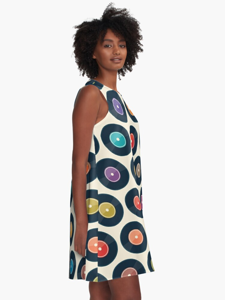 Alternate view of Vinyl Record Collection A-Line Dress