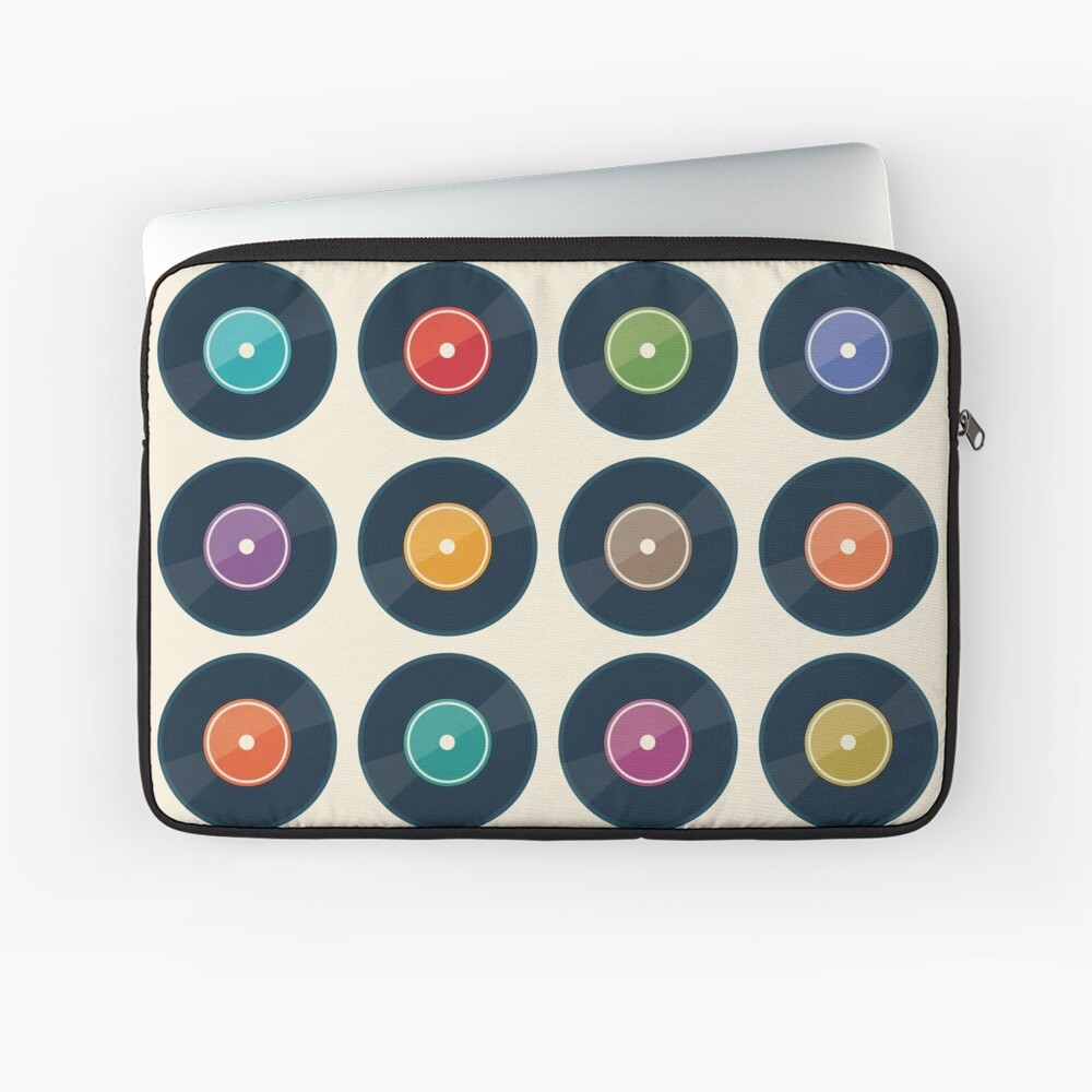 Vinyl Record Collection Laptop Sleeve