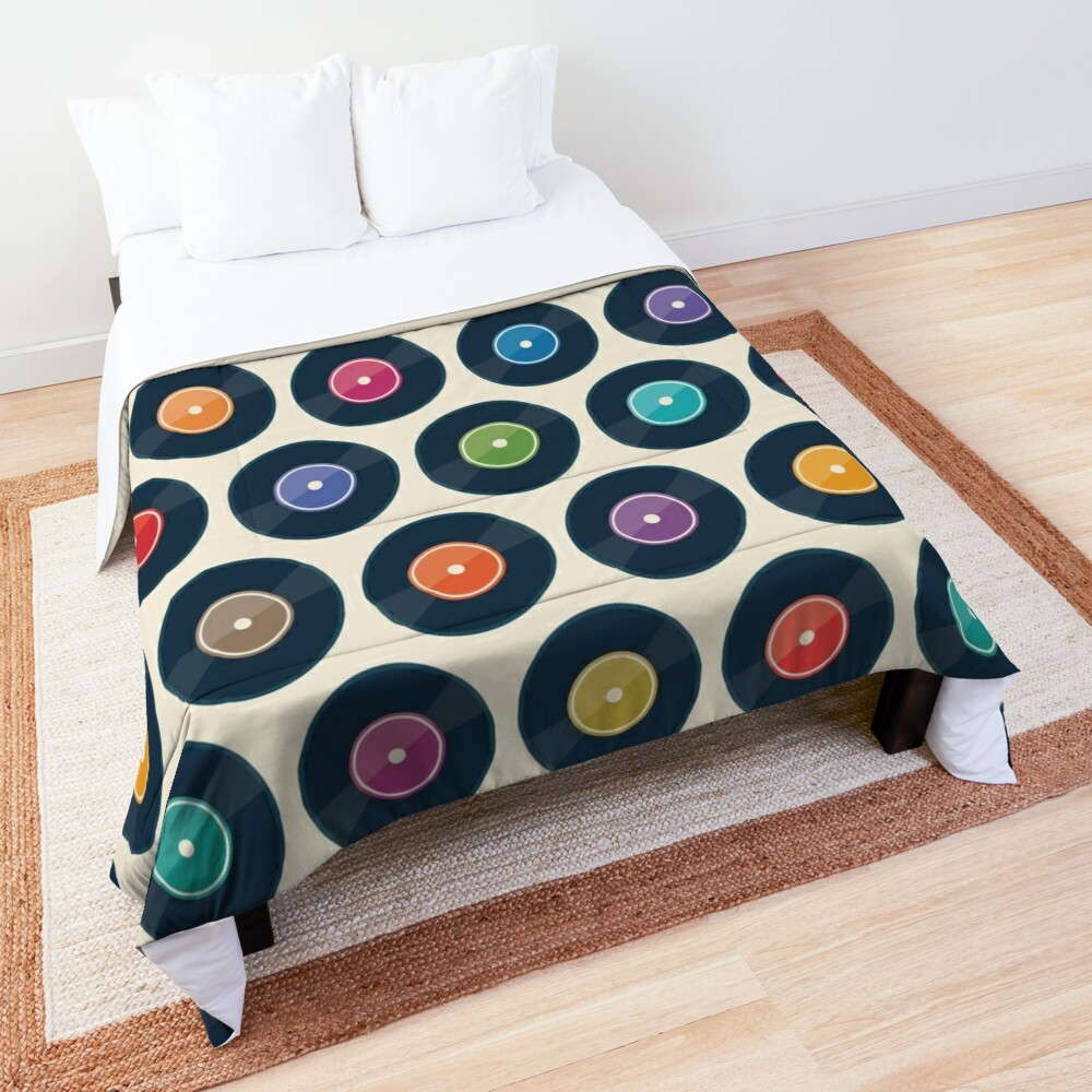 Vinyl Record Collection Comforter