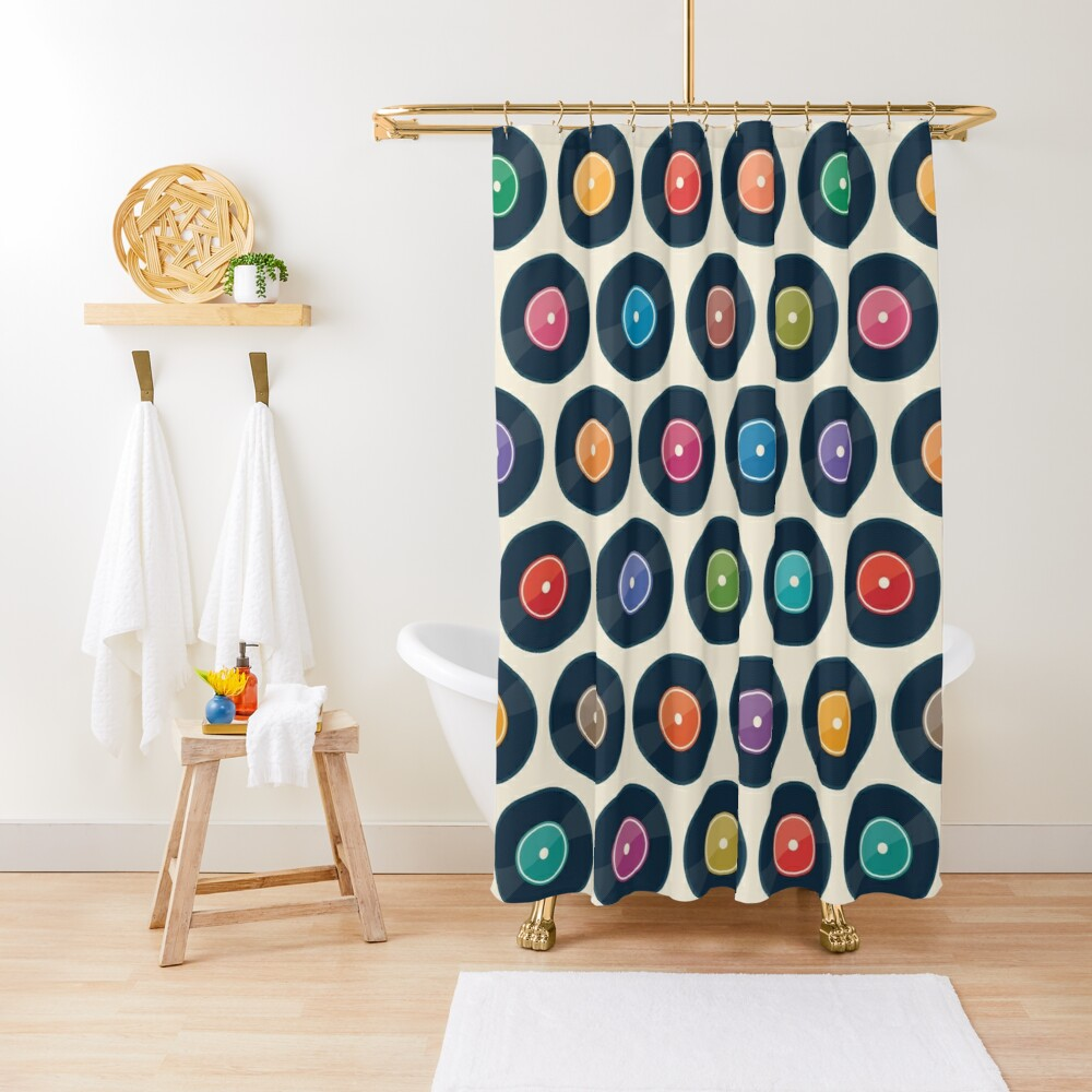 Vinyl Record Collection Shower Curtain