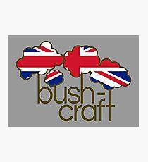 Bushcraft United Kingdom flag Photographic Print