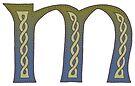 Celtic Knotwork Alphabet - Letter M by Carrie Dennison