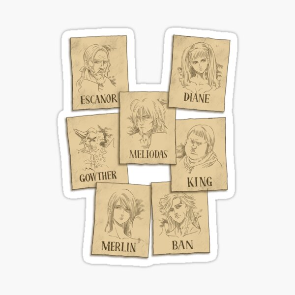 Seven Deadly Wanted Sticker