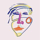 Tough Female - Modern Abstract Brush Portrait by bicone