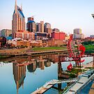 Nashville Tennessee Skyline Along the Cumberland by Gregory Ballos