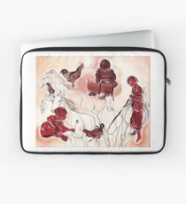 Children Playing Horses Chicken Composition Painting Laptop Sleeve