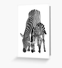 Striped Love (black and white) Greeting Card