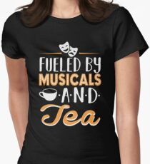 Fueled by Musicals and Tea Women's Fitted T-Shirt