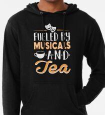 Sudadera con capucha ligera Impulsado por musicales y té