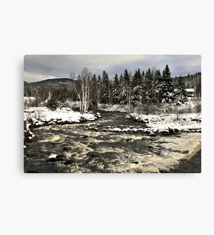 Winter Rapid River Canvas Print