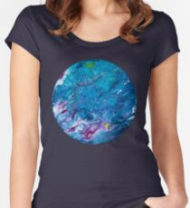 Poured Paint Women's Fitted Scoop T-Shirt