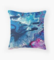 Poured Paint Throw Pillow
