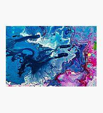 Poured Paint Photographic Print