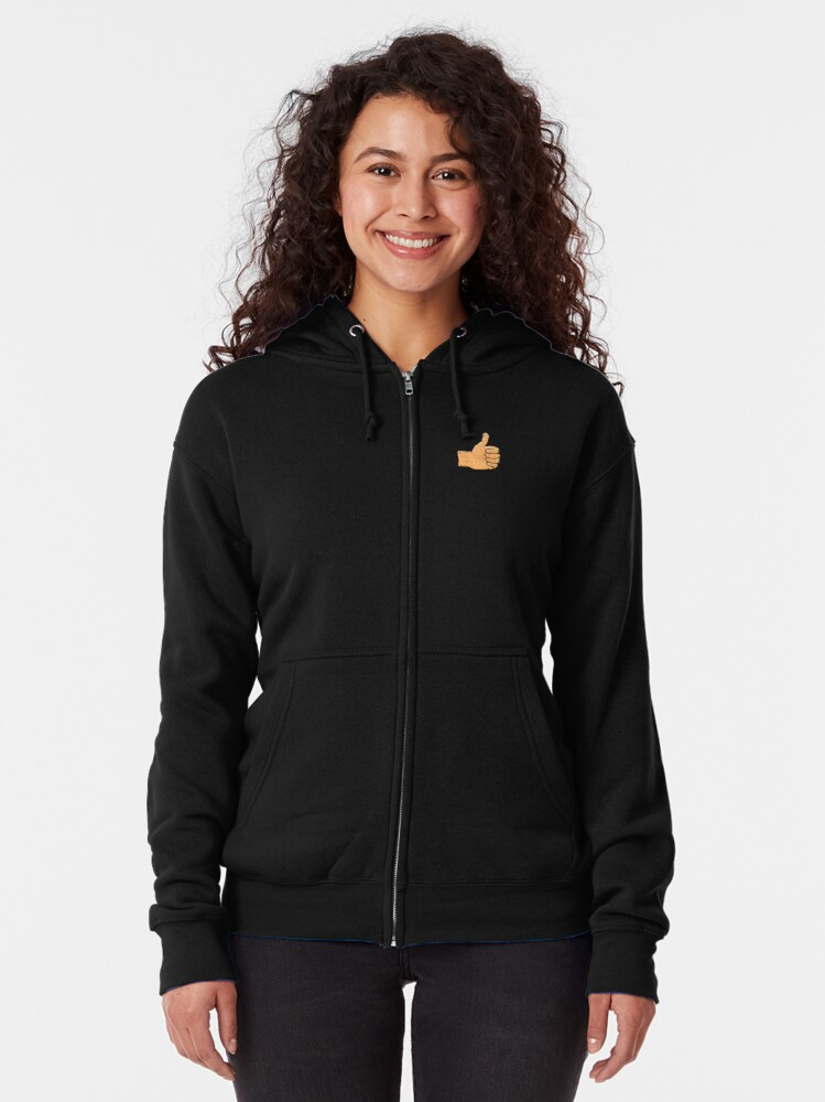 Alternate view of Thumbs up. You beauty Zipped Hoodie