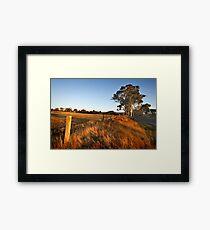 Newham near Hanging Rock Framed Print