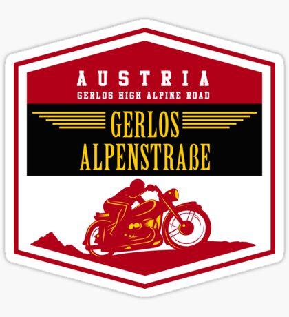 Austria - Gerlos Alpine Road Vintage Motorcycle Design Sticker