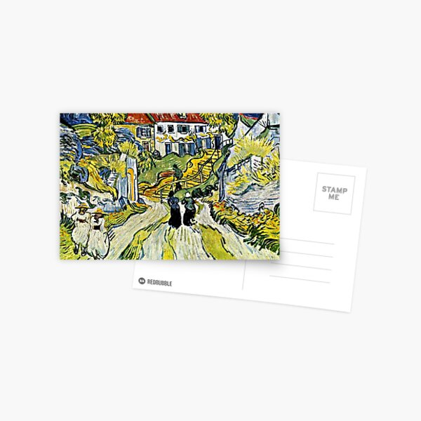 Van Gogh - Stairway at Auvers, famous painting Postcard