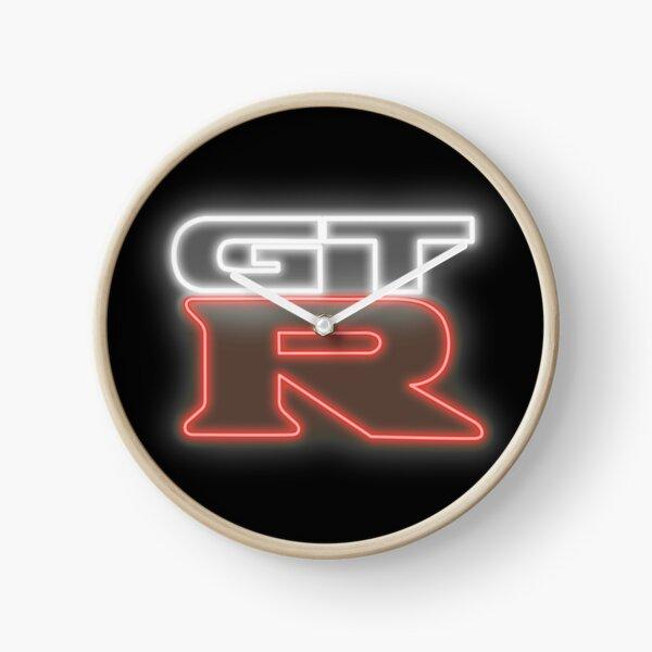 Signe au néon Nissan GTR Horloge