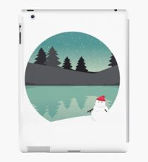 Winter scene, snowman iPad Case/Skin