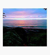 Sunrise At Lake Erie Photographic Print