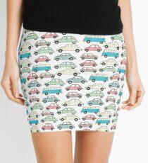 Vintage Cars Pattern Mini Skirt