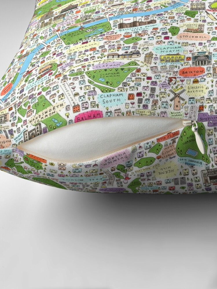 Alternate view of Germany, Ethnic, Cultural, Fun and Humor Cartoon City Map Throw Pillow