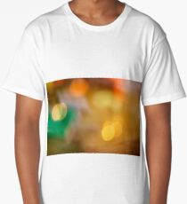 Colored blurred defocused bokeh background wallpaper decoration Long T-Shirt