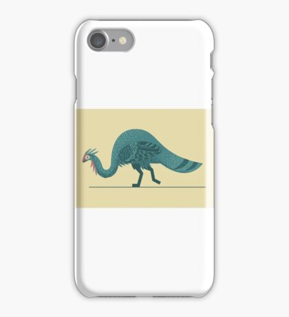 Blue Theropod iPhone Case/Skin