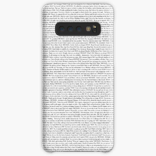 The Office pilot episode script (us) Samsung Galaxy Snap Case