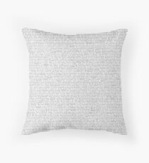 The Office pilot episode script (us) Throw Pillow