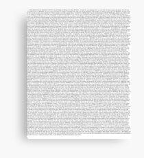 The Office pilot episode script (us) Canvas Print