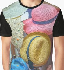 Multi-colored women's hats in the shop window fashion Graphic T-Shirt