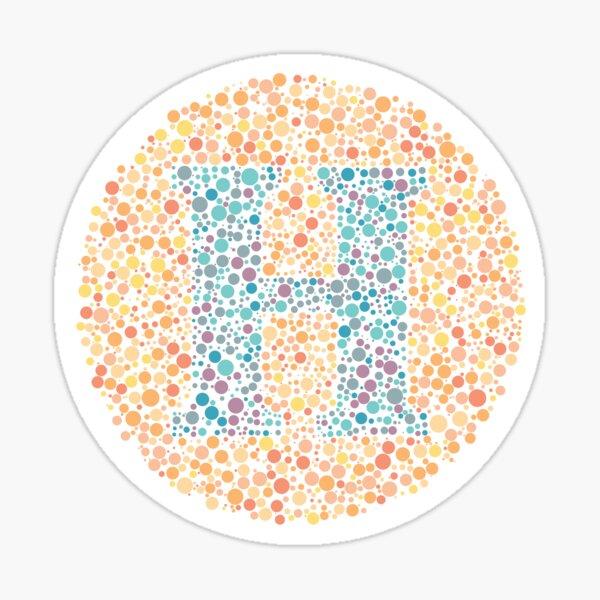 """H"" Eye Test Letter Sticker"