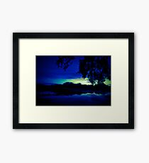 Glow In The Dark Serenity Sunset Framed Print