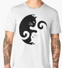 Ying Yang Cats - Black & White Men's Premium T-Shirt