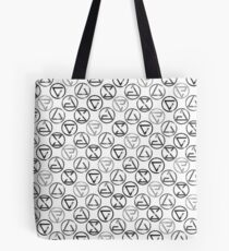 Signs - Black on White Tote Bag