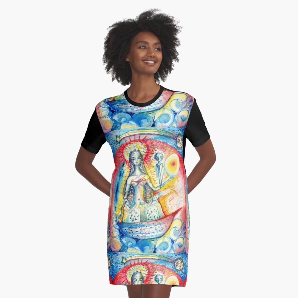 La Virgen Graphic T-Shirt Dress