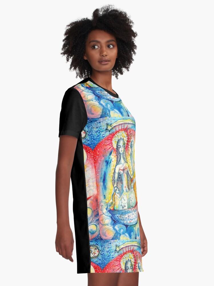 Alternate view of La Virgen Graphic T-Shirt Dress